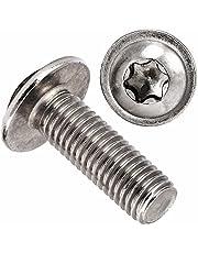 OPIOL KWALITY | lenskopschroeven met flens binnenzesrond (ISR) (10 stuks) ISO 7380 | TORX | platte kopschroeven | roestvrij | lenskop schroeven. M6x40