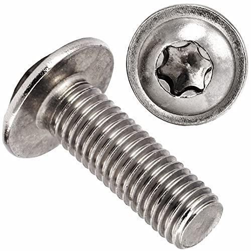 OPIOL QUALITY Tornillos de cabeza alomada con brida y hexágono interior (ISR) ISO 7380 M8 x 10 mm, de acero inoxidable A2 V2A (10 unidades)