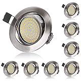 LED Einbaustrahler Flach 230V 5W LED Spots Schwenkbar...
