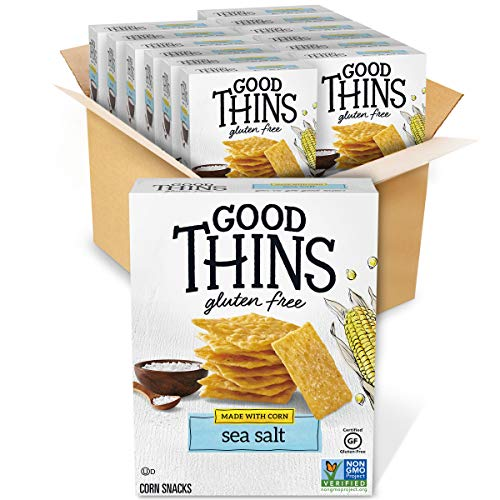 Good Thins Sea Salt Corn & Rice Snacks Gluten Free Crackers, 12 - 3.5 oz Boxes