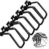 dancepandas Protezione Deragliatore Posteriore MTB 6PCS Protettore Cambio in Metallo Nero per Accessori da Ciclismo per Esterni
