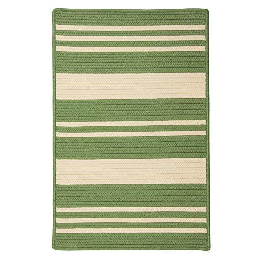 Price comparison product image Bayou Braided Indoor / Outdoor Striped Coastal Polypropylene Green Rectangular Rug