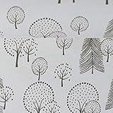 Sweat Mini Forest Wald auf weiß - Stoff - Meterware - 0,5m