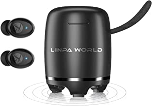 Bluetoth 5.0 Wireless Earbuds and Speaker 2 in 1 LINPA World True Wireless Earphones in Ear with Charging Case Waterproof IPX7 Built in Mic CVC8.0 with Deep Bass 30H Playtime for Sports, Workout