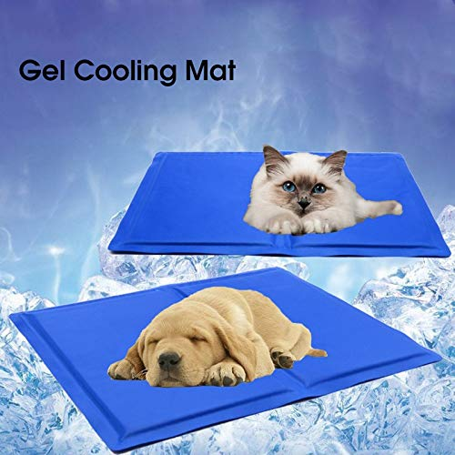 zzj Pet Dog Gel Cooling Mat, Keep Cool in Summer, Teddy Mattress Self-Cooling Blanket, Cool and Breathable, The Best Sleeping Mat for Cats and Dogs, 9681cm