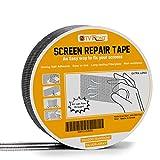 Screen Repair Tape - 20ft x 2in Door Window Screen Patch Repair Kit, Fiberglass Covering Mesh Repair Tape Strong Adhesiv Seal for Repair Holes Tears (Silver-Gray)