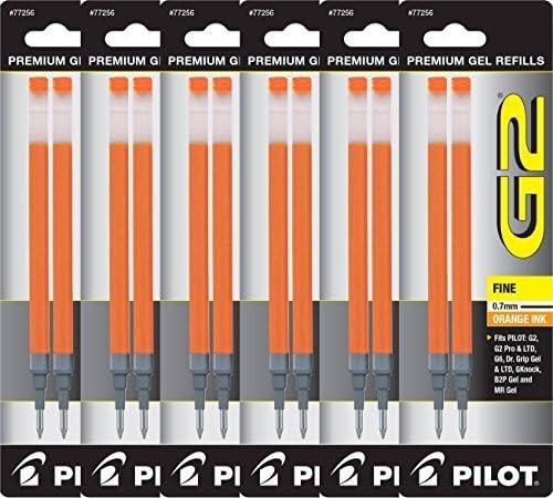 Value Pack of 6 - Industry No. 1 Pilot G2 Nashville-Davidson Mall for Pen Ball Gel Rolling Refills Ink