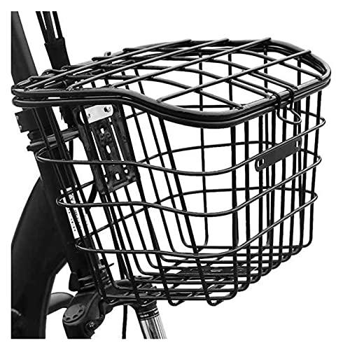 Cesta para Bicicleta con Cubierta para Transporte de Metal de Gran Capacidad, Almacenamiento Delantero sólido, Trasero, Universal, extraíble, fácil instalación, Cesta para Bicicleta de Ciclismo