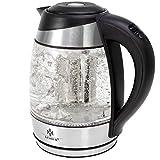 KESSER 1,8L Edelstahl Wasserkocher mit LED Beleuchtung-Farbe je nach Temperaturwahl 60, 70, 80, 90,...