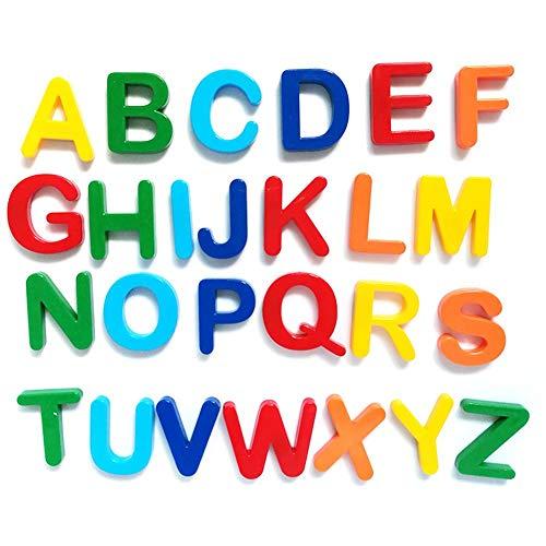 QueenHome Giocattoli educativi per la Prima Infanzia dei Bambini Adesivi magnetici alfanumerici magnetici Lettere Inglesi Set Completo di Adesivi per Frigorifero in plastica