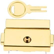 SSB-DAKOU 1 stuk 33 x 25 mm doos van zinklegering met kantelsluiting voor koffer sieraden gesp vintage materiaal zilver (k...