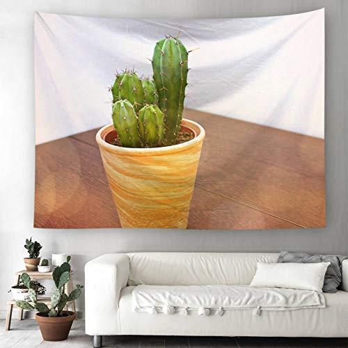 Bishilin Wandbehang Hippie Kaktus Topfpflanzen Tapisserie Psychedelic 180×230 Wandteppich Fantasy Wall Hanging Hippie Tapestry