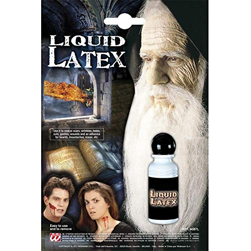 Widmann 4087L Liquid Latex, uniseks, volwassenen, wit, één maat