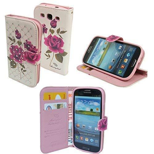ENERGMiX Book-Style Handyhülle kompatibel mit Huawei Y625 Schale Schutzhülle Tasche Zubehör mit Strass Steinen Motiv 5