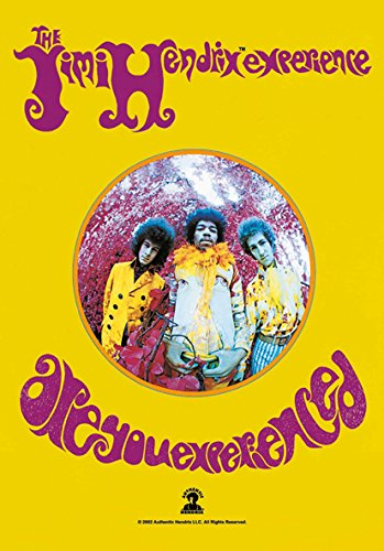 Heart Rock Licensed Flagge Jimi Hendrix–Are You Experienced, Stoff, Mehrfarbig, 110x 75x 0,1cm