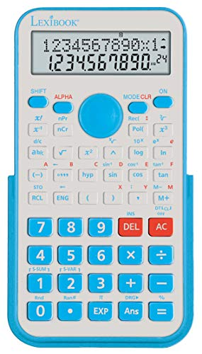SC529FR Scientific Calculator BEP College, Cap with 240 Functions, Static, Fractions, Factory, Protective Cover, Clear Instructions for Use, Battery Operated, Blue/White