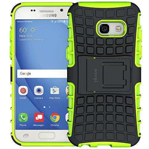 ykooe Galaxy A3 2017 Hülle, (TPU Series) Samsung Galaxy A3 (2017) Dual Layer Hybrid Handyhülle Drop Resistance Handys Schutz Hülle mit Ständer für Samsung Galaxy A3 2017 - Grün (4,7 Zoll)