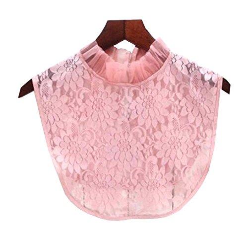 Black Temptation Fälschungs-Kragen-abnehmbare Kragen-Blusen-halbe Hemd-Kragen-falscher Kragen für Frauen, J