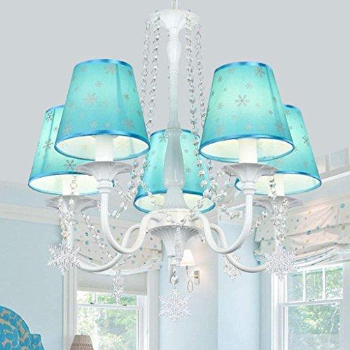 XIN blauwe prinses kamer kristal kroonluchter creatieve kunst ogen LED verlichting kinderkamer meisjes slaapkamer verlichting