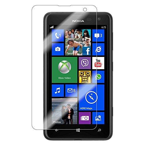 Saxonia Bildschirmschutzfolie Nokia Lumia 625 Schutzfolie Folie in bester Qualität mit Mikrofasertuch Matt