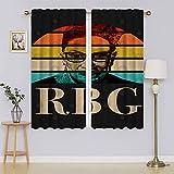 lacencn R.B.G Ruth Bader Ginsburg Panel de cortina térmica Blackoutdoor, cortinas aisladas para puerta corredera que mantienen el calor cortinas para ventanas Set para dormitorio de 76 x 45 cm