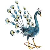 Exótico azul pavo real Pájaro decorativa jardín Escultura...