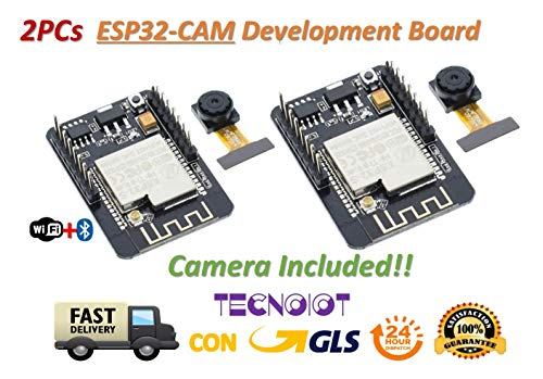 2pcs Camera Module ESP32-CAM Bluetooth Module WIFI Board Development ESP32 OV2640 (Camera Included)