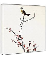 アートデリ ポスター 梅の花とうぐいすのファブリックボード