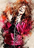 Janis Joplin Aquarell Kunst Dekorative Malerei Poster Kunst
