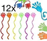 TK Gruppe Timo Klingler 12x Klatschhand Kinder Bunte Glibberhand Mitgebsel & Giveaway - Jungen &...