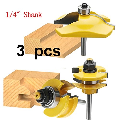 Aoher 1/4 Inch Shank || Rail and Stile Panel Router Bit