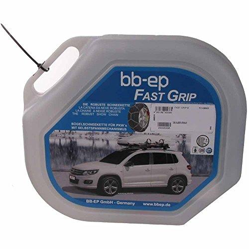 BB-EP Chaîne à Neige pour Honda FR-V avec la pneus Taille 205/55 R16 – avec selbstspannm echanismus – Garantie 5 Ans avec ö Norme, uni et certifié TÜV