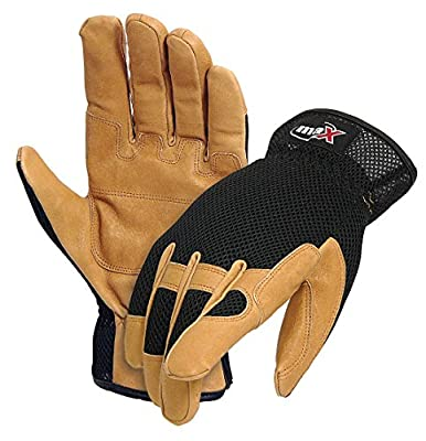 Galeton Max Extra DP Sport Utility/Mechanics Pigskin Double Palm Work Gloves