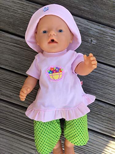 Puppenkleidung handmade passend für Baby Puppe Gr. 43 cm Sommerset Kleidung Bekleidung