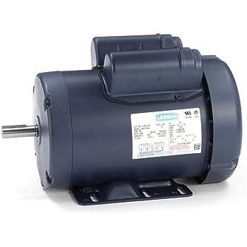 Leeson Electric Motor 1//3 HP 119807.00 1725 RPM 1-PH 115//208-230 Volt 56C Frame