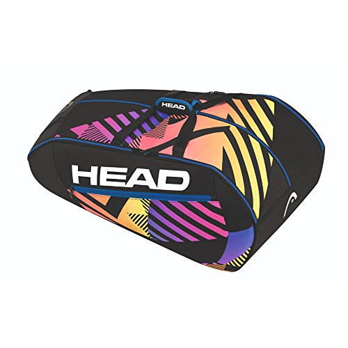 HEAD Radical 12R Monstercombi Schlägertasche, Schwarz, 68 x 40 x 20 cm