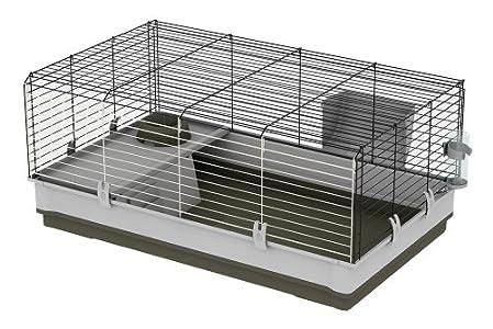 Feplast Jaula para Conejos y Conejillos de Indias Krolik Large, Sistema de Desmontaje, Accesorios Incluidos 100 x 60 x 50 Cm Verde