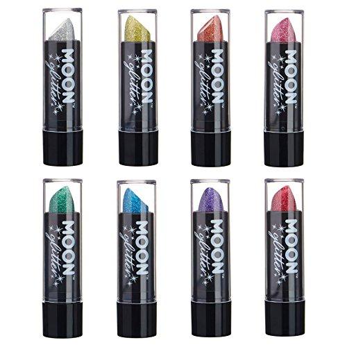 Holographischer Glitzer Lippenstifr von Moon Glitter - 5gr - Set mit 8 Farben