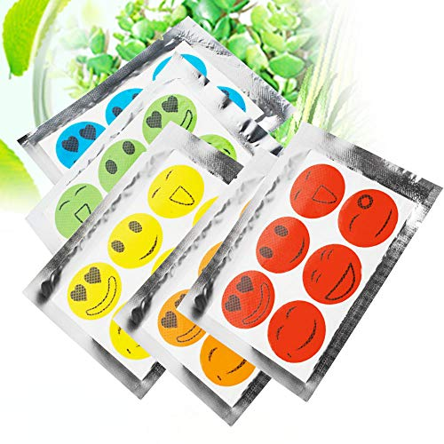 CARESHINE Insektenschutz Sticker Mückenschutz Moskito-Aufkleber Anti-Moskito-Patches Insect Pest Mosquito Stickers 10 Beutel 60pcs