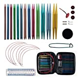 Aluminum Circular Knitting Needles Set with 13...