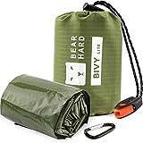 Bearhard Emergency Sleeping Bag Emergency Blanket Bivy Sack Ultralight Waterproof Thermal Survival Bivvy Bag with Heat Retention for Camping, Hiking, Backpacking