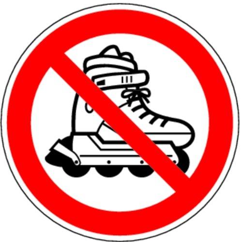 LEMAX® Aufkleber Inline-Skates verboten 100mm
