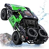 【𝐀𝐦𝐩𝐡𝐢𝐛𝐢𝐨𝐮𝐬 𝐑𝐂 𝐂𝐚𝐫 𝐂𝐨𝐧𝐪𝐮𝐞 𝐀𝐥𝐥 𝐓𝐞𝐫𝐫𝐚𝐢𝐧 】---The RC car can easily break through all terrain like sandy beach, mud, grass, stone road etc., its double waterproof structure allows you to drive through the water freely 【 𝐒𝐮𝐩𝐞𝐫 𝐋𝐚𝐫𝐠𝐞 𝐒𝐢𝐳𝐞, 𝟒𝟎𝐦𝐢𝐧𝐬 𝐅𝐮𝐧 𝐓𝐢𝐦𝐞 ...