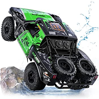 Ruko C11 Amphibious RC Cars 1 10 Scale Large Monster Truck 2.4 GHz Waterproof Remote Control Car 4WD Off Road Vehicle with 2 Rechargeable Batteries for 40 Mins Play Gift for Adults and Kids Green