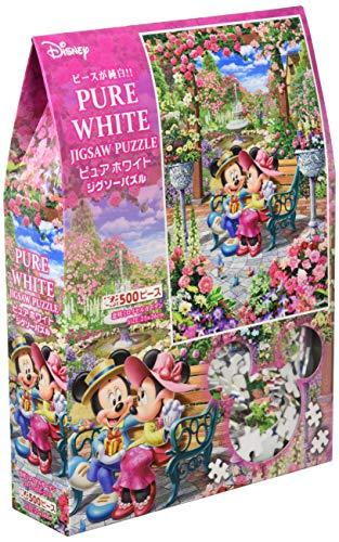 500ピース ジグソーパズル ディズニー 恋咲くロイヤルガーデン ぎゅっとシリーズ 【ピュアホワイト】(25x36cm)