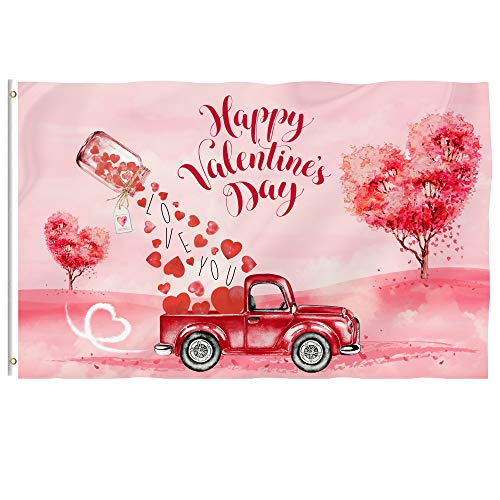 pinata Valentines Day Flag 3x5 Ft - Vivid Color and Double Stitched - Large Double Sided Polyester...