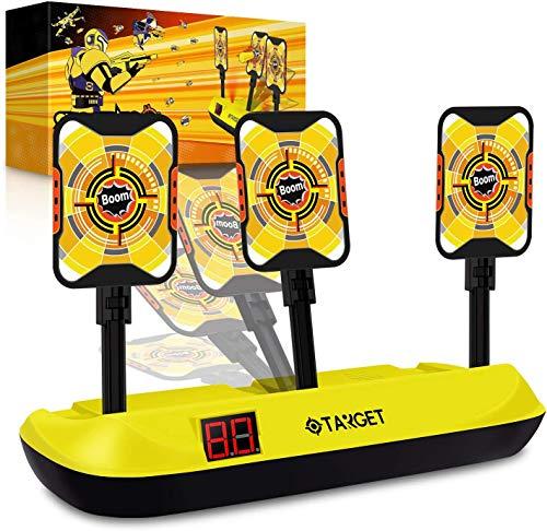 Jionchery Digital Targets für das Schießen Kompatibel mit Nerf Guns-Electronic Scoring Auto Reset Targets für Kinder