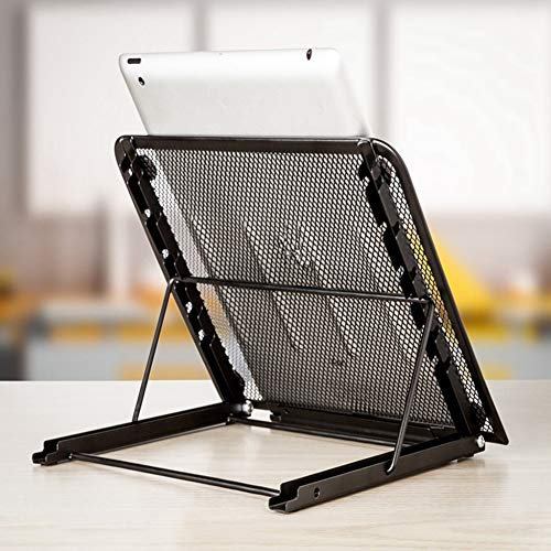 PrettyWit Laptop Riser Stand Support Ventilated Adjustable Laptop Stand for Pad Tablet Notebook, 9.5 x 7.5 x 0.5 Inches, Black