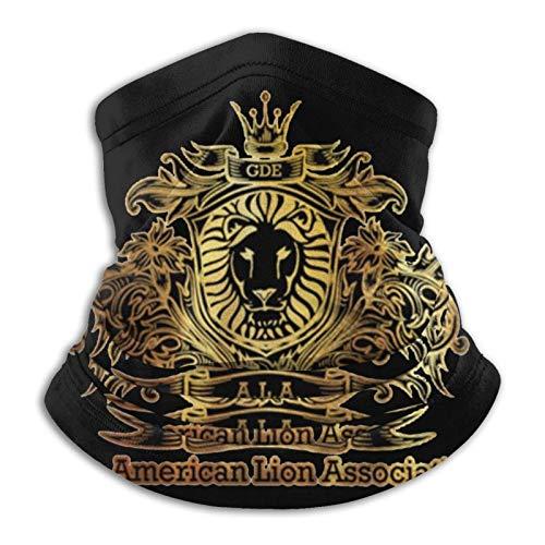 Overlooked Shop Pasamontañas Dorada y Negra - Máscara Facial de león Americano Polaina para el Cuello Pasamontañas Multifuncional Bandana Outdoor