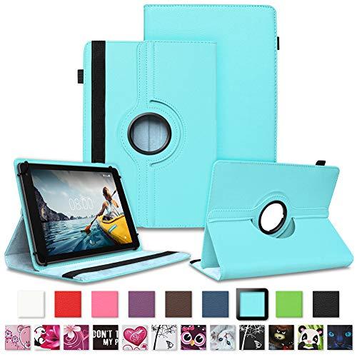 NAUC Tablet Schutzhülle für Medion Lifetab P8912 Hülle Tasche Standfunktion 360° Drehbar Cover Universal Hülle, Farben:Hellblau